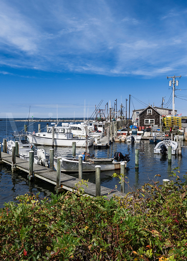 Quaint fishing village of Menemsha, Chilmark, Martha's Vineyard, Massachusetts, USA.