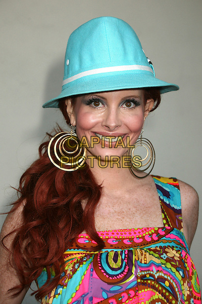 "PHOEBE PRICE.""The Wendell Baker Story"" Los Angeles Premiere at the Writers Guild Theatre, Beverly Hills, California, USA..May 10th, 2007.headshot portrait hoop earrings blue turquoise hat.CAP/ADM/BP.©Byron Purvis/AdMedia/Capital Pictures"