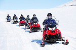 Norway, Svalbard, travel, snowmobile tour in spring