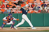 First Baseman Cody Stubbs #25 of the North Carolina Tar Heels runs to first during  a game against the Clemson Tigers at Doug Kingsmore Stadium on March 9, 2012 in Clemson, South Carolina. The Tar Heels defeated the Tigers 4-3. Tony Farlow/Four Seam Images.