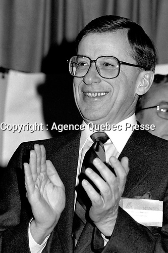 Montreal, CANADA, January 20 1985 File Photo - Gerard D. Levesque attend the Liberal Party of Quebec convention.