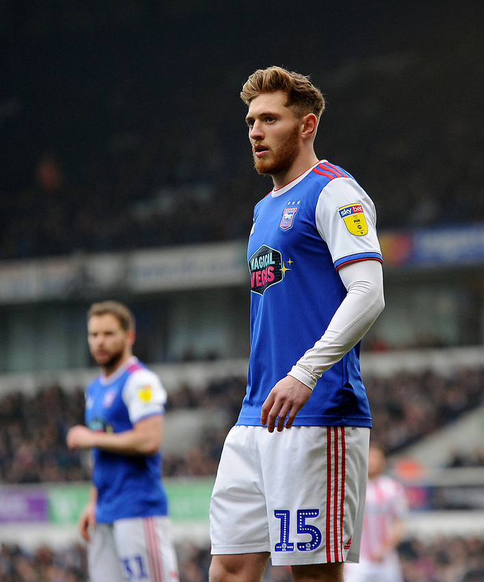 Ipswich Town's Teddy Bishop<br /> <br /> Photographer Hannah Fountain/CameraSport<br /> <br /> The EFL Sky Bet Championship - Ipswich Town v Stoke City - Saturday 16th February 2019 - Portman Road - Ipswich<br /> <br /> World Copyright © 2019 CameraSport. All rights reserved. 43 Linden Ave. Countesthorpe. Leicester. England. LE8 5PG - Tel: +44 (0) 116 277 4147 - admin@camerasport.com - www.camerasport.com