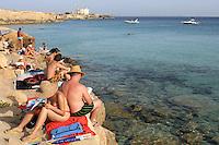 The island of Favignana, Sicily