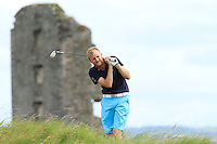 Stephen Walsh (Portmarnock) on the 13th tee during Round 3 of The South of Ireland in Lahinch Golf Club on Monday 28th July 2014.<br /> Picture:  Thos Caffrey / www.golffile.ie
