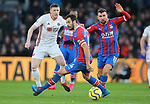 Sheffield United's John Lundstram is challenge by Crystal Palace's Luka Milivojevic and James McArthur during the Premier League match at Selhurst Park, London. Picture date: 1st February 2020. Picture credit should read: Paul Terry/Sportimage