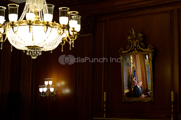 United States President Donald J. Trump attends the Friends of Ireland Luncheon at the U.S Capitol on March 16, 2017 in Washington, DC. <br /> Credit: Olivier Douliery / Pool via CNP /MediaPunch