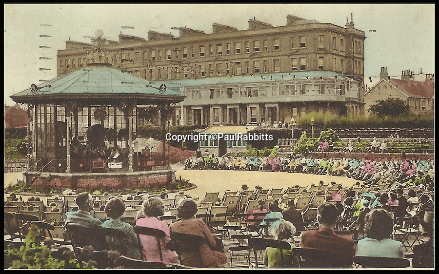 BNPS.co.uk (01202 558833)<br /> Pic: PaulRabbitts/BNPS<br /> <br /> ***Please Use Full Byline***<br /> <br /> The bandstand in Western Lawns, Hove. Lost 1965.<br /> <br /> A landscape gardener is trumpeting the great British creation of the bandstand after touring the country's parks to study the iconic structures for a new book.<br /> <br /> Paul Rabbitts' work is a celebration of the Victorian platforms and a throwback to the halycon days of outdoor music when thousands of people would gather in public parks for a brass band performance.