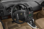 High angle dashboards view of a 2009 Land Rover LR2 HSE