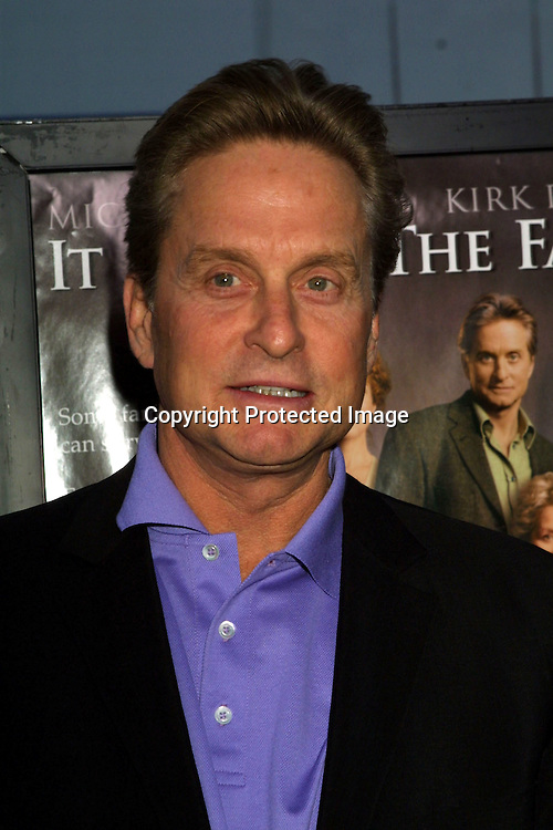 "©2003 KATHY HUTCHINS / HUTCHINS PHOTO.""IT RUNS IN THE FAMILY"" Premiere.WESTWOOD, CA.APRIL 7, 2003..MICHAEL DOUGLAS"