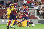 17.09.2014 Barcelona, Spain. Champions League Groups. Picture show Leo Messi in action during game beteween FC Barcelona against Apoel at Camp Nou