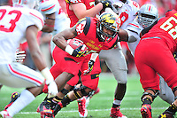 Terrapins' Brandon Ross found daylight on his way to the endzone for a touchdown. Ohio State trounced Maryland 52-24 during a game at the Capital One Field in Byrd Stadium, College Park, MD on Saturday, October 3, 2014.  Alan P. Santos/DC Sports Box