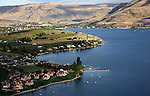 55 mile long Lake Chelan is the third deepenst lake in the United States and stretches from apple orchards and vinyards ideep into the North Cascade Mountains ending at the little town of Stehekin.