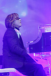Japanese rock star Yoshiki of X JAPAN plays the piano during the second day of the New Economy Summit (NEST 2017) on April 7, 2017, Tokyo, Japan. The annual summit brings together global entrepreneurs and innovators for a two-day event in Tokyo. (Photo by Rodrigo Reyes Marin/AFLO)