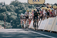 Columbians Carlos Betancur (COL/Movistar) & Sergio Henao (COL/SKY) sprinting towards the finish<br /> <br /> 104th Tour de France 2017<br /> Stage 14 - Blagnac › Rodez (181km)