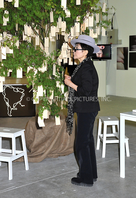 WWW.ACEPIXS.COM . . . . .  ..... . . . . US SALES ONLY . . . . .....June 21 2012, Dublin......Yoko Ono unveiling her Wish Tree for Ireland at the Dublin Biennial Pop-up Exhibition at the Point Village on June 21 2012 in Dublin ....Please byline: FAMOUS-ACE PICTURES... . . . .  ....Ace Pictures, Inc:  ..Tel: (212) 243-8787..e-mail: info@acepixs.com..web: http://www.acepixs.com
