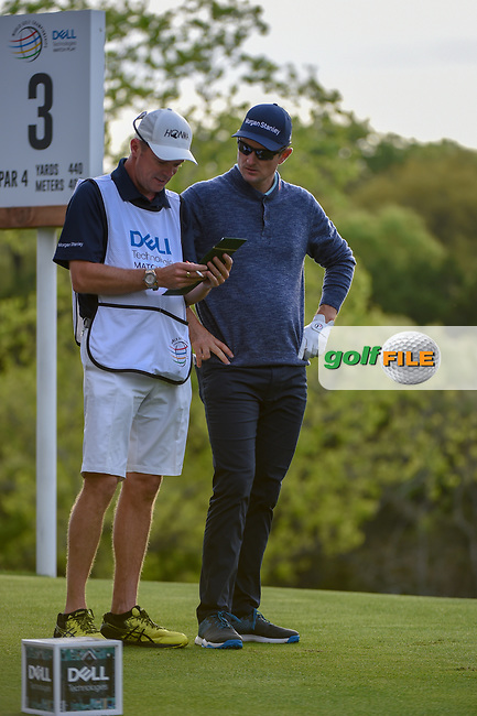 Justin Rose (GBR) looks over his tee shot on 3 during day 4 of the WGC Dell Match Play, at the Austin Country Club, Austin, Texas, USA. 3/30/2019.<br /> Picture: Golffile | Ken Murray<br /> <br /> <br /> All photo usage must carry mandatory copyright credit (© Golffile | Ken Murray)