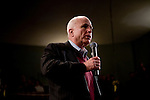 Sen. John McCain (R-AZ) speaks at a presidential campaign rally in Newport, NH, on Sunday, Dec. 30, 2007.