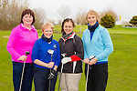 Mary Fitzgerald, Maureen Tiplady (lady captain),Kathleen Finnegan, Margaret Murphy (lady president) Ardfert. at the St brendans Hurling club Golf Classic at Ardfert Golf Club on Saturday