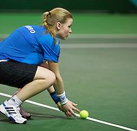 13-02-14, Netherlands,Rotterdam,Ahoy, ABNAMROWTT, Ballgirl<br /> Photo:Tennisimages/Henk Koster