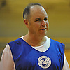 Bobby Fanning, 52, of Huntington Station heads off the court after playing in a Long Island Nets open tryout at LIU Post's Pratt Center in Brookville, NY on Saturday, Sept. 30, 2017.
