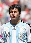 22 July 2007: Argentina's Leonardo Sigali. At the National Soccer Stadium, also known as BMO Field, in Toronto, Ontario, Canada. Argentina's Under-20 Men's National Team defeated the Czech Republic's Under-20 Men's National Team 2-1 in the championship match of the FIFA U-20 World Cup Canada 2007 tournament.