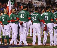 Mexico Team. Equipo de Mexico.<br />  Brandon Laird (5), Adrian Gonzalez (23), Japhet Amador (42), Efren Navarro (24), Luis Cruz (47).<br /> https://www.worldbaseballclassic.com/teams/mex<br /> Aspectos del partido Mexico vs Italia, durante Cl&aacute;sico Mundial de Beisbol en el Estadio de Charros de Jalisco.<br /> Guadalajara Jalisco a 9 Marzo 2017 <br /> Luis Gutierrez/NortePhoto.com