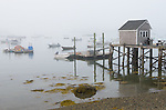 Central coast, Maine:<br /> Docks and boats of Friendship Harbor