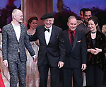 Darko Trensnjak, Terrence McNally, Stephen Flaherty, Lynn Ahrens during Broadway Opening Night Performance Curtain Call bows for 'Anastasia' at the Broadhurst Theatre on April 24, 2017 in New York City.