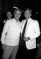FILE PHOTO : Rene Descary, Mayor of Lachine (L) and singer Pierre Lalonde, August 19, 1984.<br /> <br /> PHOTO : Agence Quebec Presse
