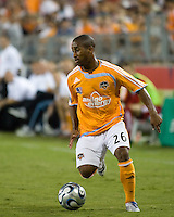 Houston Dynamo forward Corey Ashe (26). The Houston Dynamo tied the Columbus Crew 1-1 in a regular season MLS match at Robertson Stadium in Houston, TX on August 25, 2007.
