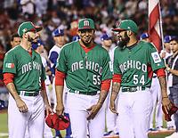 Miguel Gonzalez (58), Jake Sanchez (55) Sergio Romo (54), <br /> <br /> Aspectos del partido Mexico vs Italia, durante Cl&aacute;sico Mundial de Beisbol en el Estadio de Charros de Jalisco.<br /> Guadalajara Jalisco a 9 Marzo 2017 <br /> Luis Gutierrez/NortePhoto.com