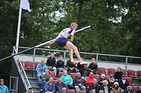 FIERLJEPPEN: IT HEIDENSKIP: 29-06-2016, 1e klasse wedstrijd fierleppen, afgelast wegens regen, Sytse Bokma, ©foto Martin de Jong