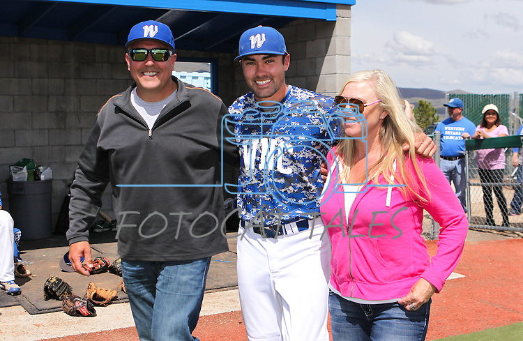 Images from Western Nevada College's baseball  Sophomore Day ceremony in Carson City, Nev. on Friday, May 6, 2016. <br /> Photo by Cathleen Allison/Nevada Photo Source
