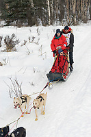Paul Ellering w/Iditarider on Trail 2005 Iditarod Ceremonial Start near Campbell Airstrip Alaska SC