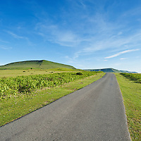 Hay Bluff Road with Hay Bluff in distance, Black Mountains, Near Hay-on-Wye, Powys, Wales