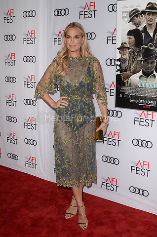 HOLLYWOOD, CA - NOVEMBER 09: Molly Sims at AFI Fest 2017 Opening Night Gala Screening Of Netflix's Mudbound at TCL Chinese Theatre on November 9, 2017 in Hollywood, California. Credit: David Edwards/MediaPunch