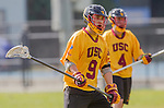 Los Angeles, CA 02/15/14 - Vince Kato (USC #9) in action during the Utah versus USC game as part of the 2014 Pac-12 Shootout at UCLA.  Utah defeated USC 10-9.