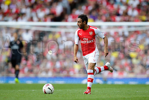 03.08.2014. London, England. Emirates Cup.  Arsenal versus AS Monaco.   Arsenal midfielder Santi CAZORLA in action.  With Monaco winning 0-1 and Valencia winning earlier in the day, Valencia won the tournament trophy.