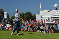 Marc Leishman (AUS) watches his tee shot on 17 during 3rd round of the World Golf Championships - Bridgestone Invitational, at the Firestone Country Club, Akron, Ohio. 8/4/2018.<br /> Picture: Golffile | Ken Murray<br /> <br /> <br /> All photo usage must carry mandatory copyright credit (© Golffile | Ken Murray)