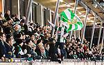 Stockholm 2014-11-29 Bandy Elitserien Hammarby IF - IK Sirius :  <br /> Hammarbys supportrar under matchen mellan Hammarby IF och IK Sirius <br /> (Foto: Kenta J&ouml;nsson) Nyckelord:  Elitserien Bandy Zinkensdamms IP Zinkensdamm Zinken Hammarby Bajen HIF HeIF Sirius IKS supporter fans publik supporters glad gl&auml;dje lycka leende ler le