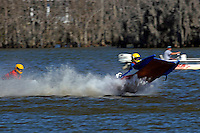 Frame 9: 1-US goes for a wild ride.   (outboard hydroplane)