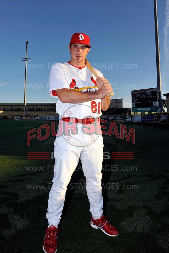 Mar 01, 2010; Jupiter, FL, USA; St. Louis Cardinals  catcher Charlie Cutler (81) during  photoday at Roger Dean Stadium. Mandatory Credit: Tomasso De Rosa/ Four Seam Images