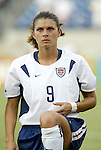 3 July 2004: Mia Hamm. The United States beat Canada 1-0 at the The Coliseum in Nashville, TN in an womens international friendly soccer game..