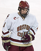 Brett Motherwell - The Boston College Eagles and Ferris State Bulldogs tied at 3 in the opening game of the Denver Cup on Friday, December 30, 2005, at Magness Arena in Denver, Colorado.  Boston College won the shootout to determine which team would advance to the Final.