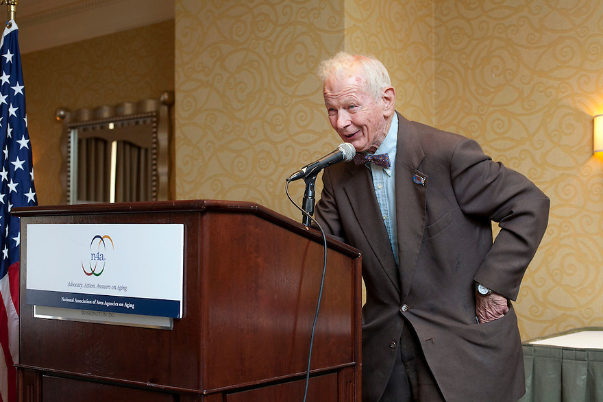 Gold Honoree Pendleton Woods speaks after receiving his award at the Older Volunteers Enrich America Awards at the Double Tree Hotel in Washington, DC on Friday, June 17, 2011.