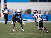 Zay Peterson (17) - Norland Vikings (Miami) vs IMG Academy Football on October 26, 2019 at IMG Academy in Bradenton, Florida.  (Mike Janes Photography)