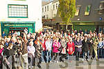 Crowds Gathered at the Unveiling of the Statue of Christy Hennessy in the Square Tralee on Saturday