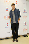 Derek Klena on Broadway at the 27th Annual Broadway Flea Market & Grand Auction to benefit Broadway Cares/Equity Fights Aids in Shubert Alley, New York City, New York.  (Photo by Sue Coflin/Max Photos)