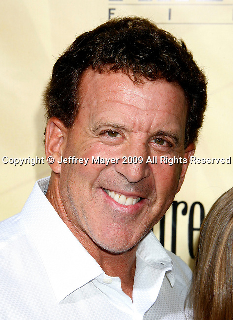 """HOLLYWOOD, CA. - August 24: Jake Steinfeld arrives at the Los Angeles premiere of """"Extract"""" at the ArcLight Hollywood on August 24, 2009 in Hollywood, California."""