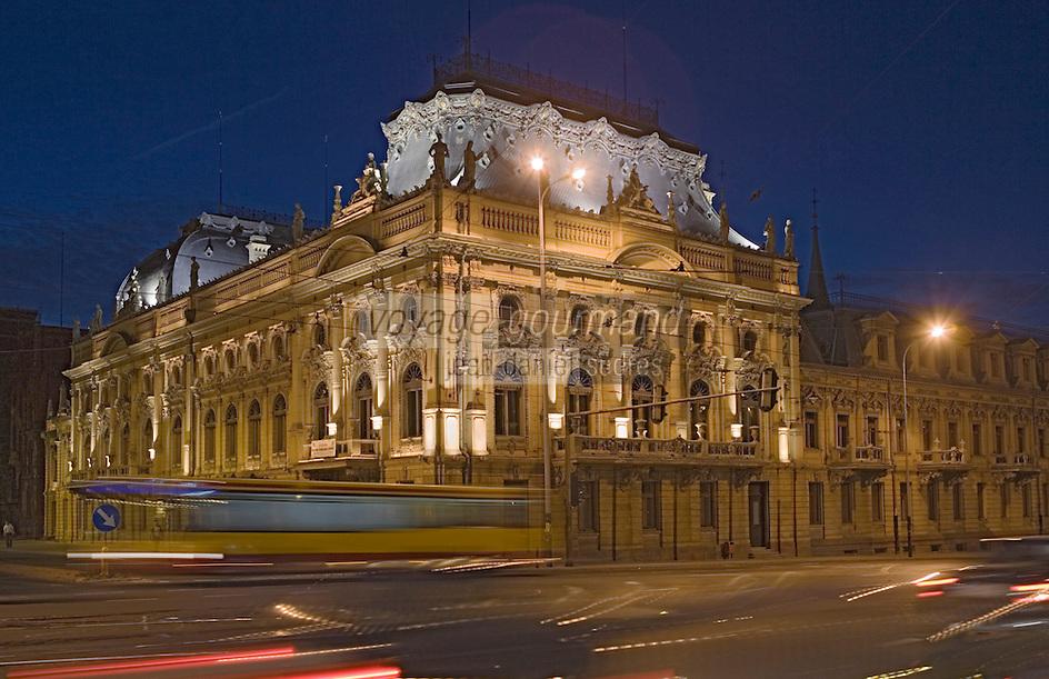 Europe/Pologne/Lodz: Le Palais d'Israël Poznanski qui contient le Musée d'Histoire de la Ville de Lodz - détail façade